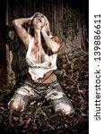 Horror Scene Of A Bloody Woman...