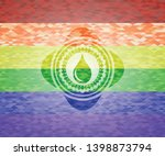 drop icon inside lgbt colors... | Shutterstock .eps vector #1398873794