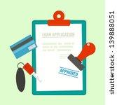 loan application with car key... | Shutterstock .eps vector #139888051