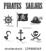 pirate icon set | Shutterstock .eps vector #139888369