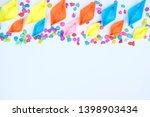 colorful paper boat wallpaper... | Shutterstock . vector #1398903434