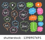 vector bubbles speech doodle... | Shutterstock .eps vector #1398907691