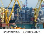 industrial port  infrastructure ... | Shutterstock . vector #1398916874