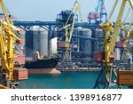 industrial port  infrastructure ... | Shutterstock . vector #1398916877