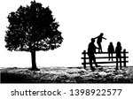 group of people in nature . | Shutterstock . vector #1398922577