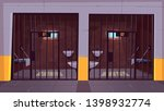 prison corridor with two empty... | Shutterstock .eps vector #1398932774