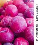 fresh plums for good health  | Shutterstock . vector #1398936884