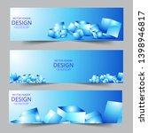 abstract header blue 3d cubes... | Shutterstock .eps vector #1398946817