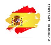 spanish flag. vector... | Shutterstock .eps vector #1398953681