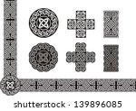 celtic vector tied knot art | Shutterstock .eps vector #139896085