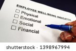 employee well being and... | Shutterstock . vector #1398967994