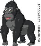 Stock vector cartoon funny gorilla on white background 1398977201