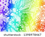 hand drawn abstract textured... | Shutterstock .eps vector #1398978467