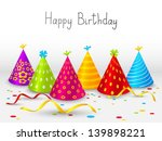 birthday hats background with