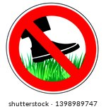 keep off the grass  prohibition ... | Shutterstock . vector #1398989747