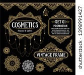 vintage frame and bor wedding ...   Shutterstock .eps vector #1398991427