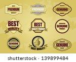 set of label   Shutterstock .eps vector #139899484