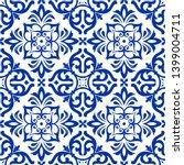 majolica pottery tile  blue and ...   Shutterstock .eps vector #1399004711