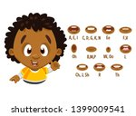 curly afro american boy in... | Shutterstock .eps vector #1399009541