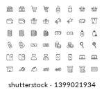 thin line shopping icons set  e ... | Shutterstock .eps vector #1399021934