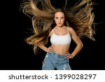 young shocked woman with very... | Shutterstock . vector #1399028297