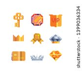 exclusive  pixel art icons set  ...   Shutterstock .eps vector #1399036334