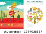 Flat Welcome To Mexico Concept...