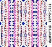 tibetan fabric. repeat tie dye... | Shutterstock . vector #1399047881