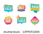 sale banner template design ... | Shutterstock .eps vector #1399051004