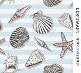 Sea Shell Pattern. Marine...