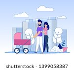 happy smiling married couple... | Shutterstock .eps vector #1399058387