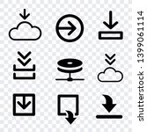 download document icons... | Shutterstock .eps vector #1399061114