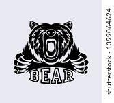 ferocious bear attacking vector ... | Shutterstock . vector #1399064624