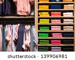 various color shirts at shelf... | Shutterstock . vector #139906981