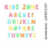 hand drawn vector alphabet on... | Shutterstock .eps vector #1399071737