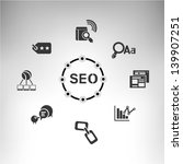 seo  search engine optimization | Shutterstock .eps vector #139907251