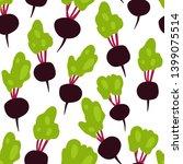 fresh beet seamless pattern on...   Shutterstock .eps vector #1399075514
