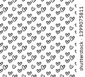 hand drawn hearts  trendy... | Shutterstock .eps vector #1399075811