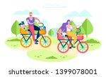 family active leisure  holiday... | Shutterstock .eps vector #1399078001