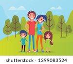 family members smiling vector ... | Shutterstock .eps vector #1399083524