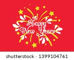 happy new year  beautiful... | Shutterstock .eps vector #1399104761