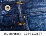 blue denim jeans texture and... | Shutterstock . vector #1399113677