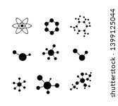 molecule icon set isolated on... | Shutterstock .eps vector #1399125044