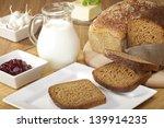 breakfast with wholemeal bread... | Shutterstock . vector #139914235