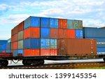 cargo dock terminal with sea... | Shutterstock . vector #1399145354