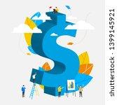 vector illustration of dollar. ... | Shutterstock .eps vector #1399145921