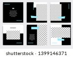 editable square abstract...   Shutterstock .eps vector #1399146371