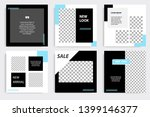 editable square abstract... | Shutterstock .eps vector #1399146377