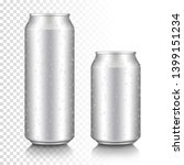 realistic aluminum can set ... | Shutterstock .eps vector #1399151234