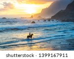 Horseriding At Ocean Beach On...